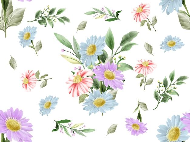 Padrão sem emenda de lindo design floral