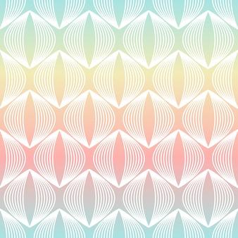 Padrão sem emenda de linha geométrica abstrata