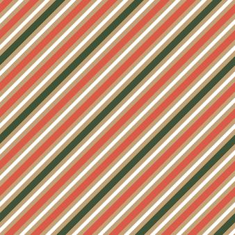 Padrão sem emenda de listras coloridas de vermelho e verde