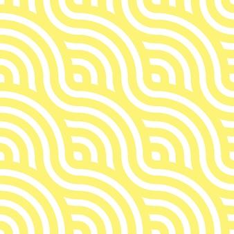 Padrão sem emenda de macarrão. ondas amarelas. abstrato ondulado ilustração.