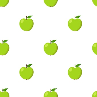 Padrão sem emenda de maçãs verdes