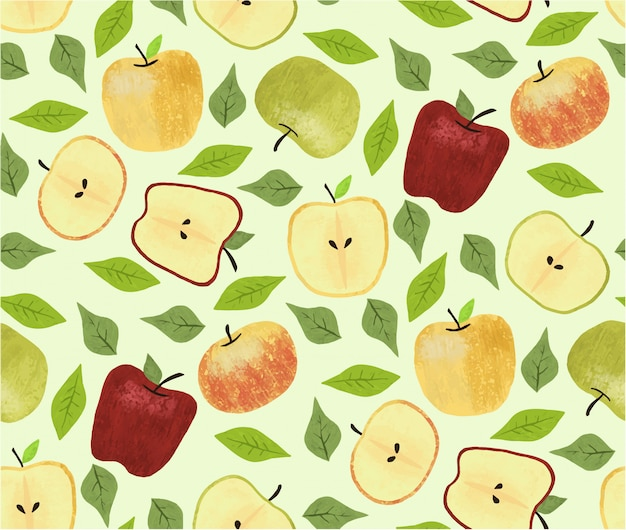 Padrão sem emenda de maçãs