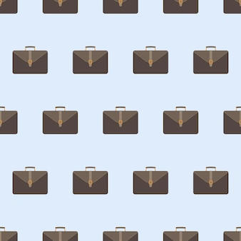 Padrão sem emenda de mala de negócios. mala para documentos e laptop. plano de fundo para negócios. estilo simples. vetor.