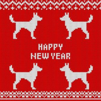 Padrão sem emenda de malha abstrata. textura de malha para o ano novo, papel de embrulho de feliz natal.