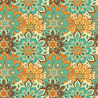 Padrão sem emenda de mandala floral
