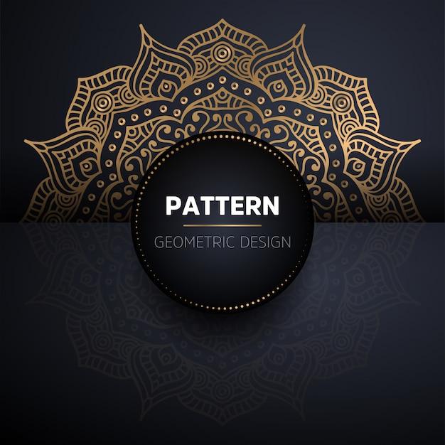 Padrão sem emenda de mandala. padrão de elementos decorativos vintage