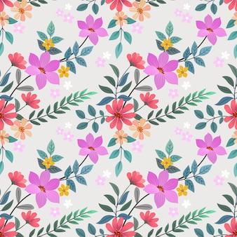 Padrão sem emenda de mão colorido desenhado flores. papel de parede de tecido têxtil.