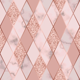 Padrão sem emenda de mármore de vetor com linhas diagonais geométricas douradas