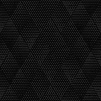 Padrão sem emenda de meio-tom geométrico cinza escuro de vetor