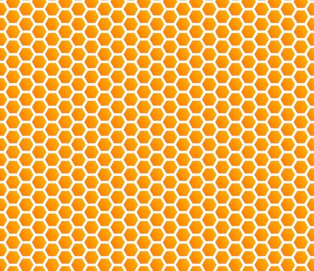 Padrão sem emenda de mel favo de mel