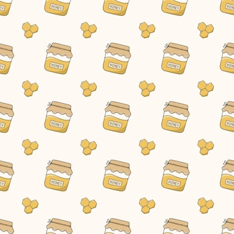 Padrão sem emenda de mel