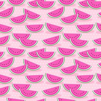 Padrão sem emenda de melancia rosa.