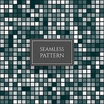 Padrão sem emenda de mosaico de pixel quadrado azul abstrato fundo do vetor