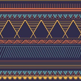 Padrão sem emenda de motivos tribais na moda com abstrato geométrico