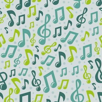 Padrão sem emenda de música de vetor