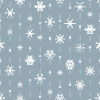 Padrão sem emenda de natal com flocos de neve. impressão de inverno.