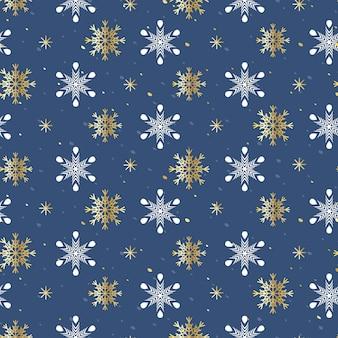 Padrão sem emenda de natal com flocos de neve para papel de embrulho, embalagens, têxteis.