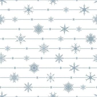 Padrão sem emenda de natal com flocos de neve. plano de fundo de ano novo.