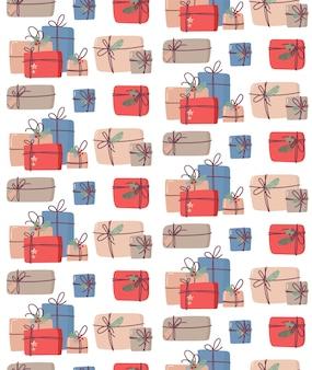 Ð¡ padrão sem emenda de natal com presentes