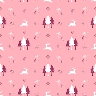 Padrão sem emenda de natal fofo com renas