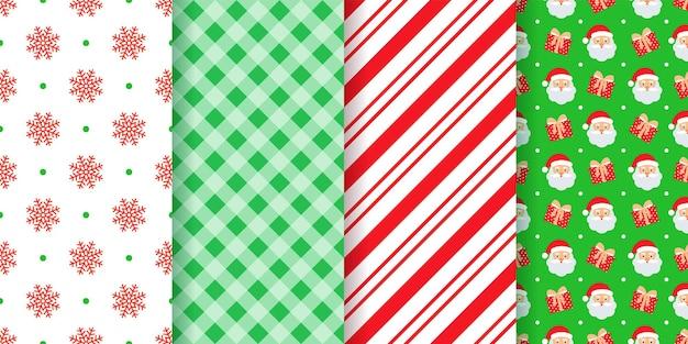 Padrão sem emenda de natal. ilustração vetorial. natal, textura geométrica de ano novo.