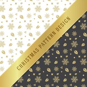 Padrão sem emenda de natal para a embalagem de papel e cartão de felicitações