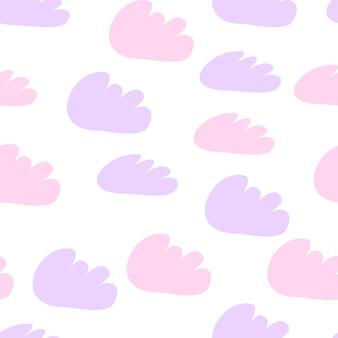 Padrão sem emenda de nuvens. ilustração em vetor design bebê para tecido, papel de parede, produtos para crianças.