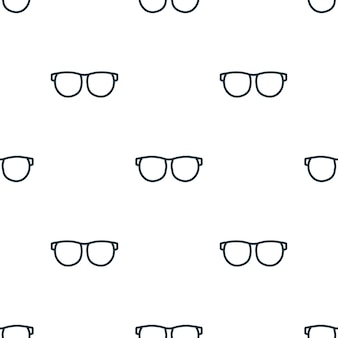 Padrão sem emenda de óculos de linha. fundo do conceito de óculos criativos. textura simples do ícone dos óculos da coleção de acessórios