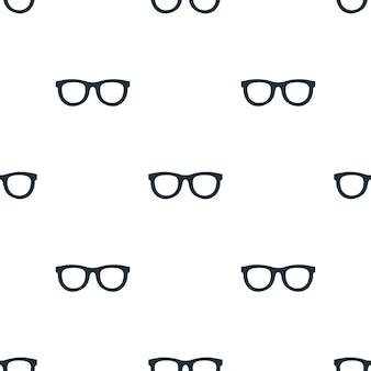 Padrão sem emenda de óculos. fundo do conceito de óculos criativos. textura simples do ícone dos óculos da coleção de acessórios