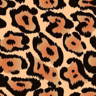 Padrão sem emenda de onça-pintada ou textura de pele de leopardo