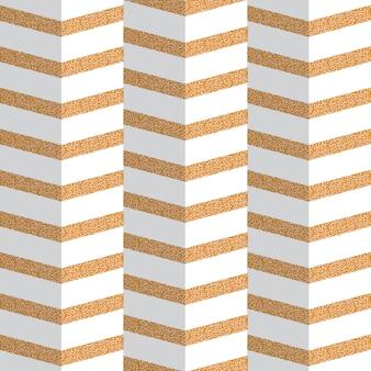 Padrão sem emenda de origami dourado zig zag