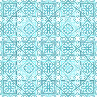 Padrão sem emenda de ornamento abstrato islâmico, ornamento geométrico árabe para segundo plano Vetor Premium