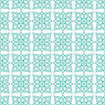 Padrão sem emenda de ornamento abstrato islâmico, ornamento geométrico árabe para segundo plano