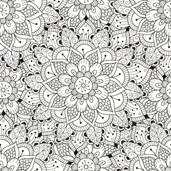 Padrão sem emenda de ornamento floral