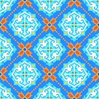 Padrão sem emenda de ornamento turco para papel de parede de mosaico de azulejos