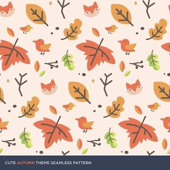 Padrão sem emenda de outono bonito tema