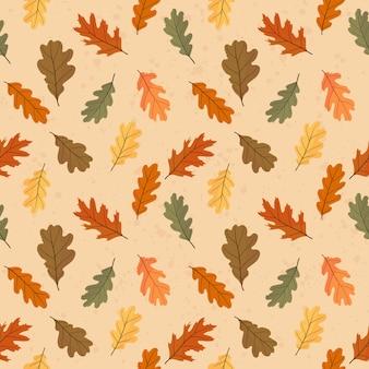 Padrão sem emenda de outono de folhas coloridas.