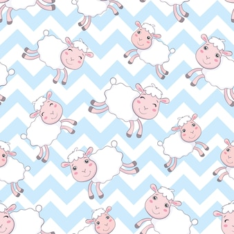 Padrão sem emenda de ovelhas