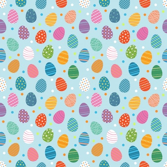 Padrão sem emenda de ovos de páscoa. ovos de páscoa para o conceito de design de férias da páscoa