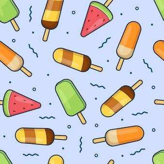 Padrão sem emenda de palito de sorvete