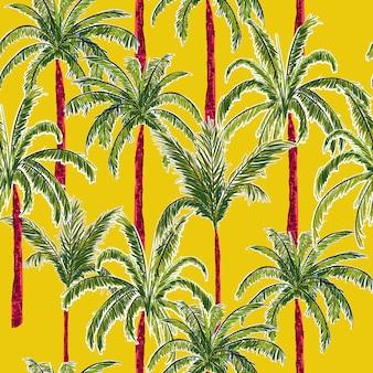 Padrão sem emenda de palmeiras de verão.