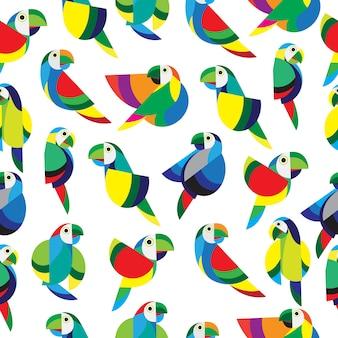 Padrão sem emenda de papagaio