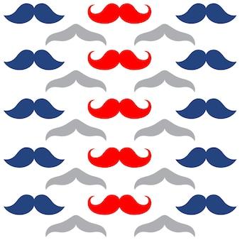 Padrão sem emenda de papel de parede de bigodes de cavalheiros
