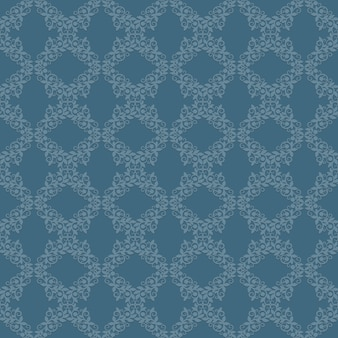 Padrão sem emenda de papel de parede vintage clássico. projeto retro do ornamento do fundo, ilustração vetorial