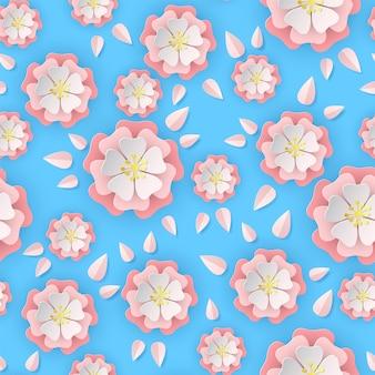 Padrão sem emenda de papel sakura