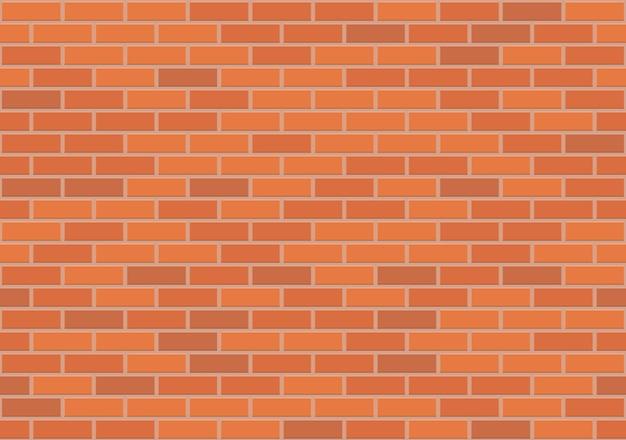 Padrão sem emenda de parede de tijolo marrom, ilustração