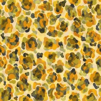 Padrão sem emenda de pele de animal leopardo plano abstrato estilo pele forma artística local