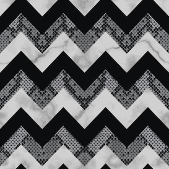 Padrão sem emenda de pele de cobra e mármore em ziguezague papel de parede de repetição de listras de animais para estampas têxteis