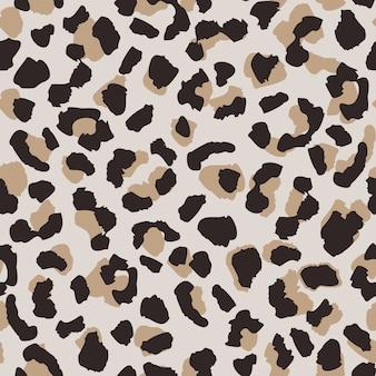 Padrão sem emenda de pele de leopardo abstrata.