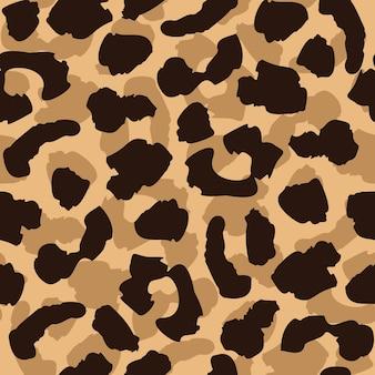 Padrão sem emenda de pele de leopardo. repetição de textura de gato selvagem. papel de parede abstrato de pêlo animal